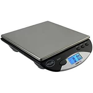 AWS American Weigh Scales AMW13-BK Digital Postal/Kitchen Scale, 13 lb by 0.1 oz, Black