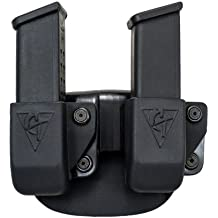 Twin Magazine Pouch Paddle - Size # 12 Left Side Carry (Right Hand Shooter)