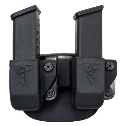 COMP-TAC.COM Twin Magazine Pouch Paddle - Size # 12 Ruger SR9, Sig P320, S&W M&P 9mm/.40, Left Side Carry (Right Hand Shooter)