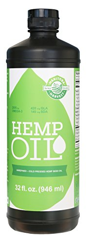 Manitoba Harvest Cold Pressed Hemp Seed Oil, 32 fl. oz, 10g of Omegas per Serving, Non-GMO