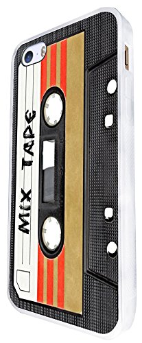 1082 - Cool Fun Mix Tape Cassette Player Retro Music Dance Hip Hop Rnb Boom Box Design For iphone SE - 2016 Fashion Trend CASE Back COVER Plastic&Thin Metal - White (Cath Kidston Iphone 5 Case)