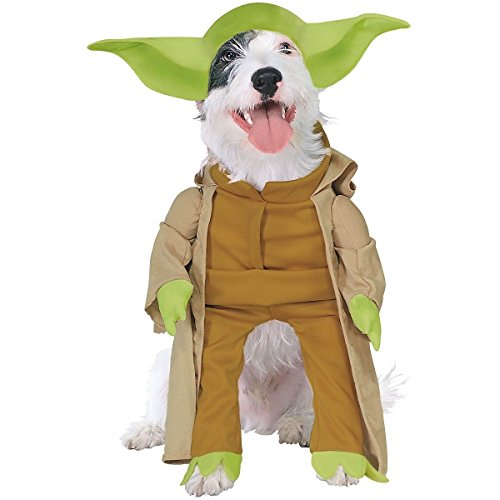 Yoda Dog Costume Star Wars Pet Halloween Fancy Dress Sizes Large X-Large Medium Small Substantially Similar Brand New (XL ()