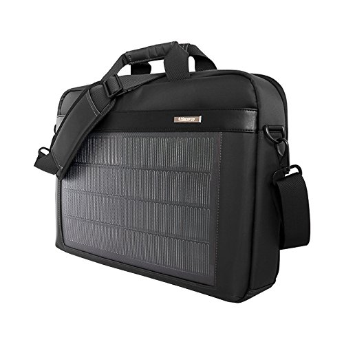 HANERGY Thin Film Solar Powered 8W Laptop Computer Case Electronics Business Shoulder Bag Notebook MacBook iPad Protective Case with Handle & Accessory Pocket (Black) by HANERGY (Image #3)