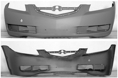 Amazoncom Acura TL Front Bumper Cover Painted NHM - 2005 acura tl front bumper
