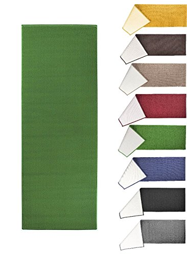 (Better Home Solid Fashion Floor Runner Rug - Non-Skid Home, Hallway, Staircase, Floor Carpet - Soft and Comfortable, 22.5