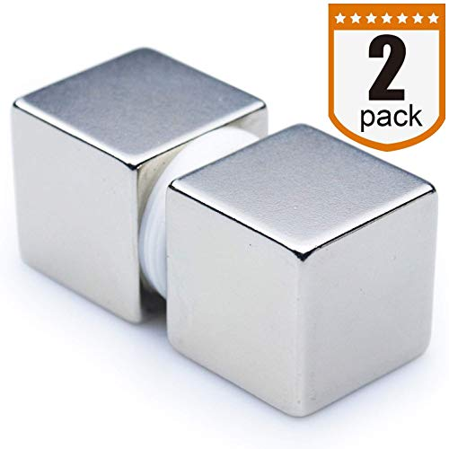 """DIYMAG 1"""" Cube Neodymium Magnets, Strongest One Inch Cube Rare Earth Magnet - Grade N52, Pack of 2"""