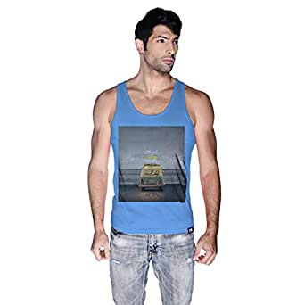 Creo Beach Van Tank Top For Men - L, Blue
