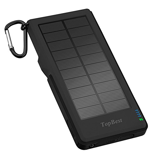 Solar Charger TopBest Quick Charge 3.0 Dual USB 12000mAh Waterproof/ Shockproof/ Dustproof Portable Solar Power Bank with LED Flashlight Outdoor Emergency Camping for All USB Supported Devices