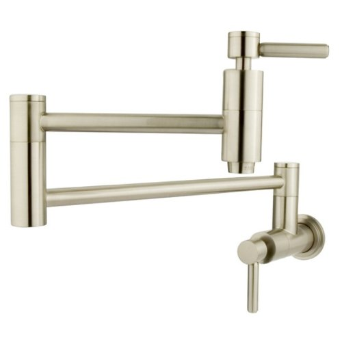 "Kingston Brass KS8108DL Concord Pot Filler, 13"", Brushed Nickel"