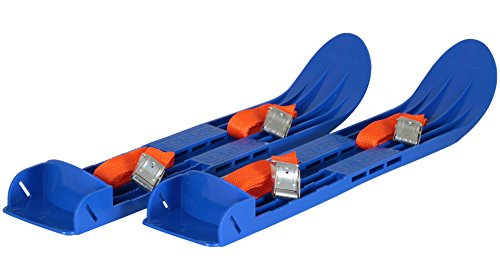 Kids Skis Plastic Mini Snow Skis with Sturdy Straps for Downhill or Cross Country Skiing (40cm) Bindings