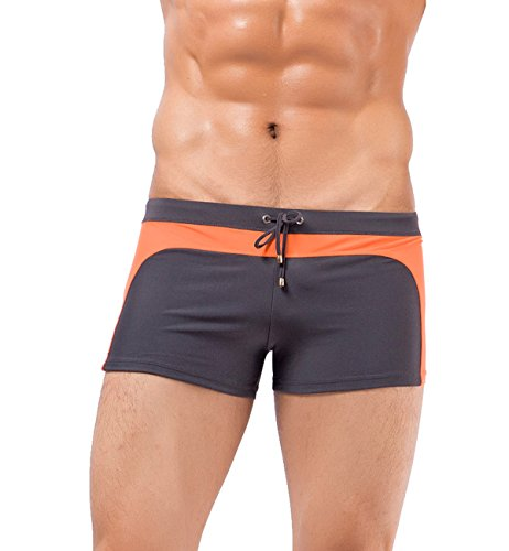 Men's Swim Briefs Square Leg Swimwear Trunks Color Beachwear - Cut Swim Square Shorts