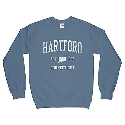 Hartford Connecticut CT Sweatshirt - Vintage Athletic Sports Retro State Design - Adult (Unisex)
