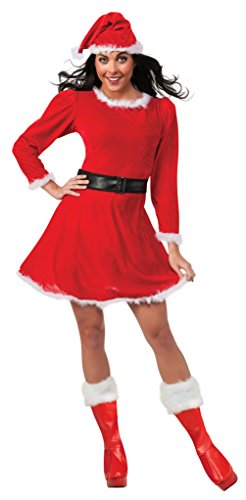 Rubie's Costume Women's Mrs. Claus Dress, Red/White, (Mrs Claus Shoes)