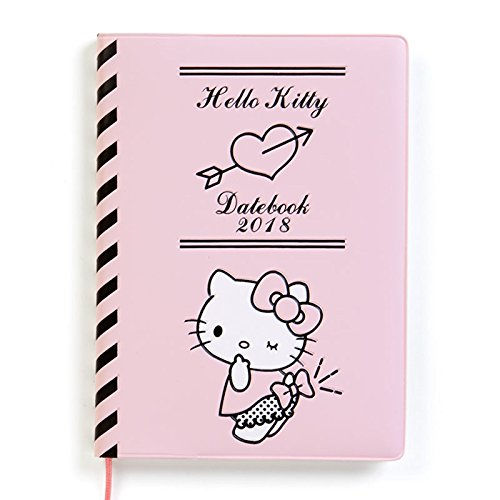 Sanrio Hello Kitty cover with Date Book 2018 From Japan New