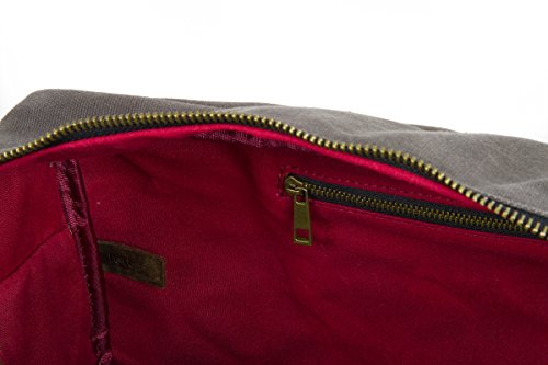 Waxed Cotton Canvas Duffel Bag with Leather Handles | the Whitman Weekender Duffel by FAT FELT by FAT FELT (Image #5)