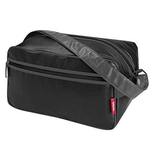 (Cabin Max️ Arezzo Stowaway XL - 8x14x9 20L Underseat Carry On Luggage - Perfect Weekender Bag Messenger Bag for Overnight Stays! (Black/Charcoal))