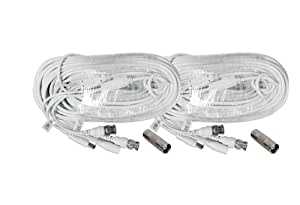 Lot of 2 Generic 150 Foot Security Camera Cable for Samsung SDS-P5100, 5101, 4080, 3040