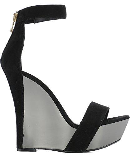 Balmain Chaussures Compensées Noir Femme Suède S7CSS150404C176 7Rq7Uwp