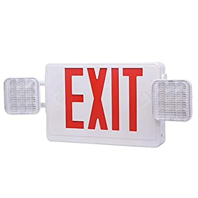 Exit Signs, AUSPICE LED Exit Sign Battery, Emergency Exit Sign, Self Contained 120V/277V Exit Light, UL Exit Sign with Emergency Lights, Energy Efficient, Long Lasting and Fire Resistance