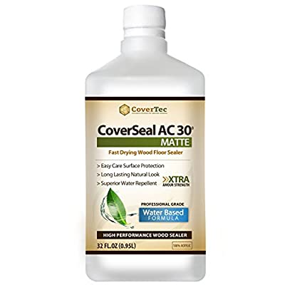 CoverSeal AC30 Matte Wood Sealer, Durable, Fast Setting, Clear Natural Look (1 Qrt - Prof Grade)