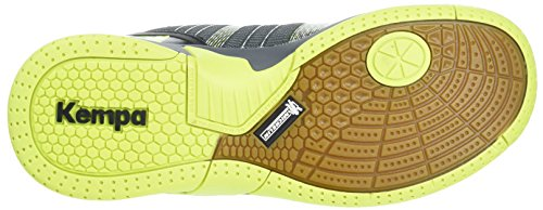 Kempa Attack Contender Junior Caution, Zapatillas Deportivas Para Interior Unisex Niños negro (antracita) / amarillo