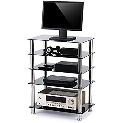rfiver-5-tier-black-glass-audio-video