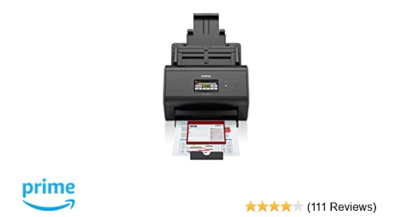 Brother ImageCenter ADS-2800W Wireless Document Scanner, Multi-Page  Scanning, Color Touchscreen, Integrated Image Optimization, High-Precision