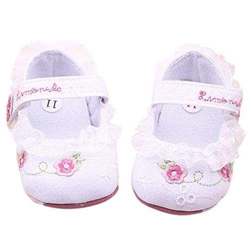 Auxma Mädchen Blume Kleinkind Schuhe für 0-18 Monate Baby (6-12 M)