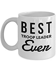 Girl Scout Leader gifts Prime - Best Troop Leader Ever Coffee Mug, 11 Oz Tea Cup, Novelty Thank You Appreciation Gift Ideas