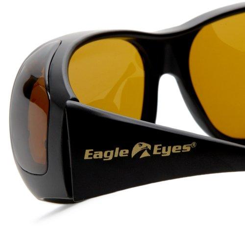 e4558dcaaff Amazon.com  Eagle Eyes FitOns Polarized Sunglasses - Black Matte  Clothing