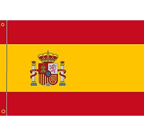 Alta calidad de la bandera de España 90 x 150 cm reforzado Hissband: Amazon.es: Deportes y aire libre