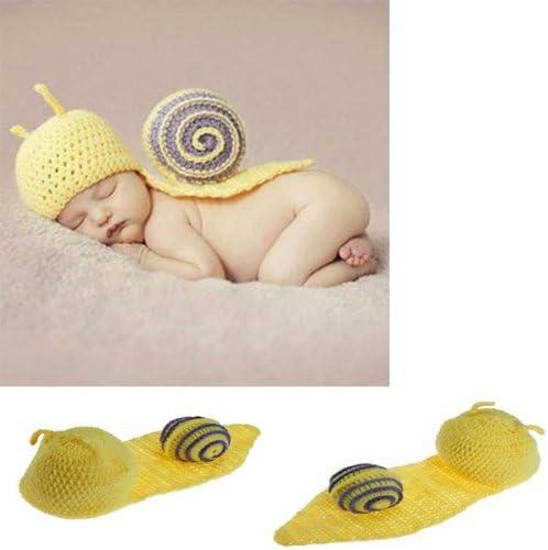 Ropa infantil del bebé del caracol ganchillo Disfraz Fotografía ...