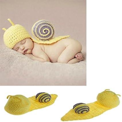 Ropa infantil del bebé del caracol ganchillo Disfraz Fotografía Prop