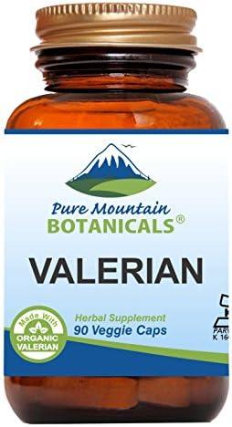 Valerian Root Capsules – 90 Kosher Vegan Caps – Now with 1000mg Organic Valerian Root Powder