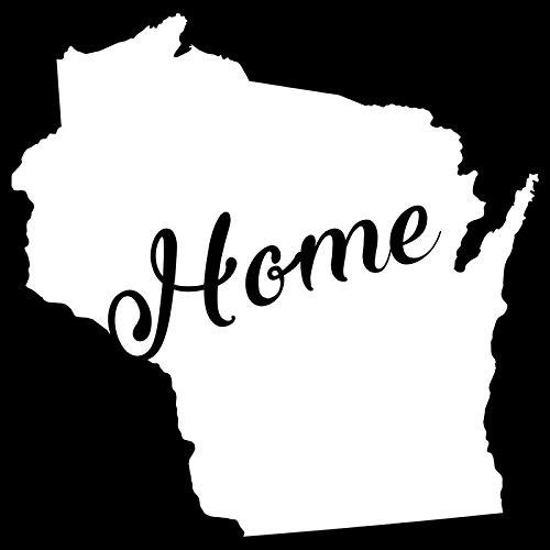 Wisconsin Home State Vinyl Decal Sticker | Cars Trucks Vans Walls Windows Laptops Cups | White | 5.5 X 5.4 | KCD1960