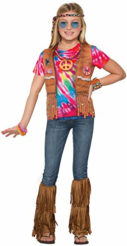 Forum Novelties Kids Hippie Costume, Multicolor, Large ()