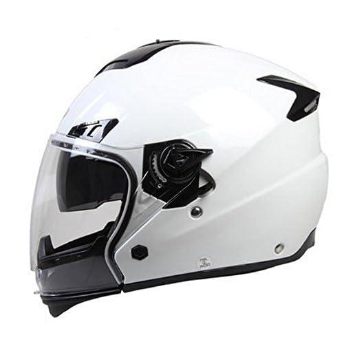 Casque de casque de course de moto commander la cam¨¦ra hiver/M Code , white