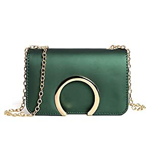 Fashion New Exquisite Beautiful Trendy Casual Fashion Portable Slung Shoulder Small Handbag (Color : Green)