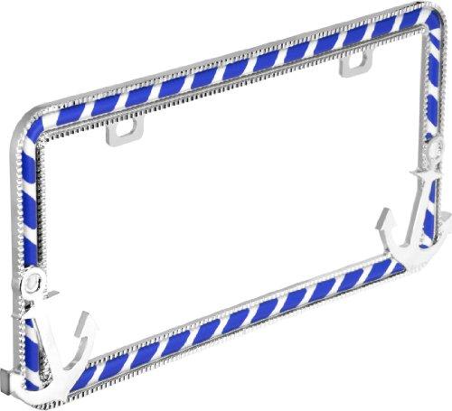 Designer License Plate - Bell Automotive 22-1-46449-8 Universal Anchor's Away Design License Plate Frame