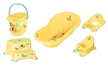 Baby Bathroom Set 5 Piece - Disney Winnie the Pooh - Baby Bathtub + Potty  sc 1 st  Amazon UK & Baby Bathroom Set 5 Piece - Disney Winnie the Pooh - Baby Bathtub ... islam-shia.org