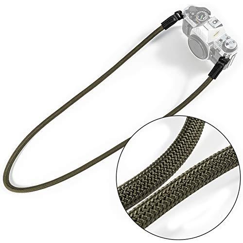 VKO Mirrorless Camera Neck Strap Compatible with Sony A6400 A6000 A6300 A6500 A6100 A6600 RX1R RXIRII RX10 RX10II RX10III RX10IV Cameras Climbing Rope Shoulder Strap Green
