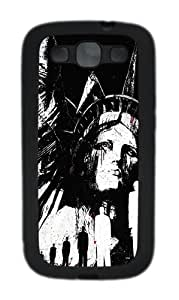 Samsung Galaxy S3 Cases- Statue Of Liberty Illustration TPU Silicone Case Cover for Samsung Galaxy S3 / SIII / I9300 Black