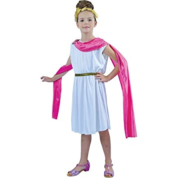girls medium roman goddess costume for kids toga party rome sparticus fancy dress up outfit