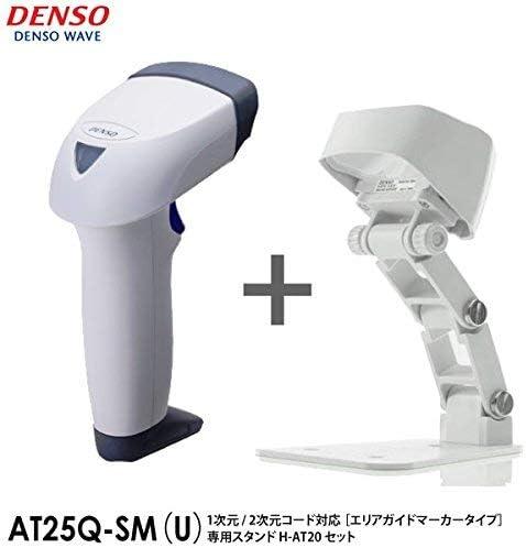 [해외]덴 소 웨이브 고성능 2 차원 QR 코드 인식 바코드 리더 (USB 연결) AT25Q-SM (U) (화이트) 【 구역 안내 표식 유형 】 (스탠드 세트) / Denso Wave High Performance 2D QR Code Barcode Reader (USB Connection) AT25Q-SM(U) (White) [Area Guide M...