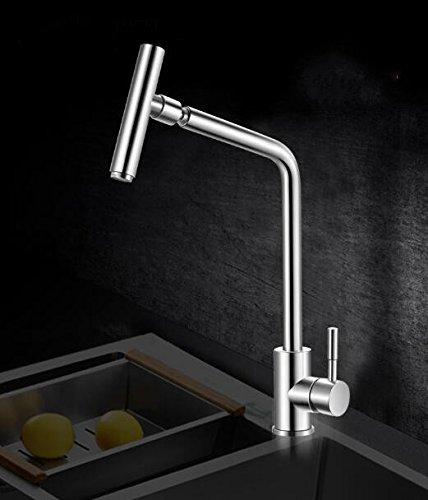 Dhpz Kitchen Mixer Hot And Cold Sink Kitchen Sink Rotating 304 Stainless Steel Sink Single Hole, A