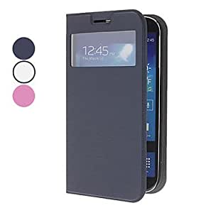 Viewable Screen PU Leather Case for Samsung Galaxy S4 I9500 , Black