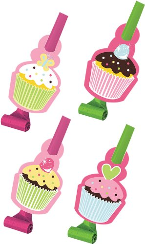 Creative Converting Sweet Treats Birthday Party Blowouts, 8 Count