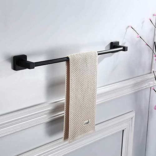 VN Towel Rod Drill-Free Two-use Towel Rack, Black 304 Stainless Steel Bathroom Towel Rack Bathroom Towel bar,60 ()
