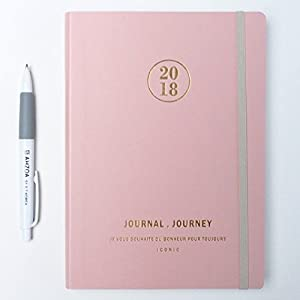Journal Journey Diary Planner with AHZOA Pencil, Date is printed (pink)