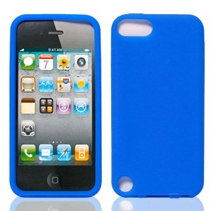 Bundle Accessory for Apple Ipod Touch 5 - Blue Silicon Skin Soft Case Protector Cover + Lf Stylus Pen + Lf Screen Wiper